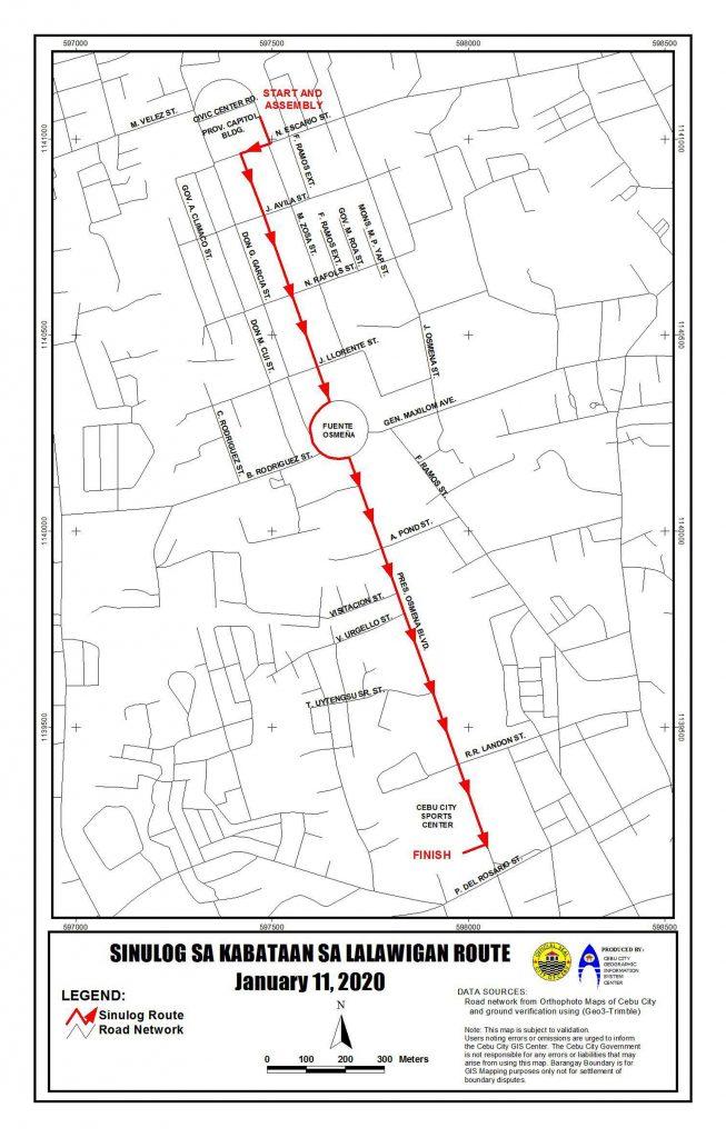 聖嬰節省區組遊行路線圖