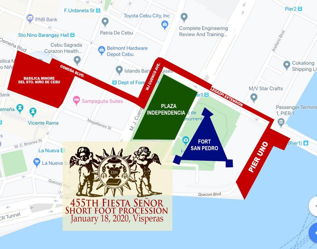 從Pier1碼頭步行遊行路線圖