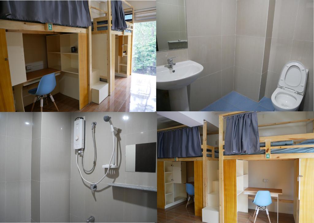 乾濕分離且設計典雅精緻的四人房,令小衛想起了自己的大學宿舍。