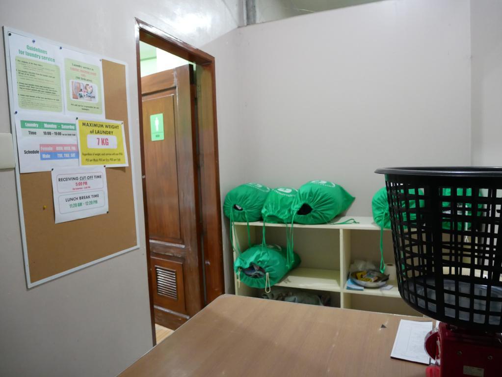 位於PINES Chapis高級校區地下一樓的洗衣間。