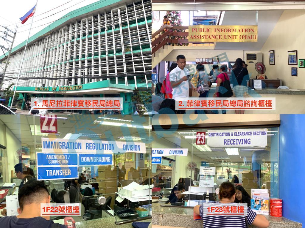 抵達馬尼拉菲律賓移民局總局